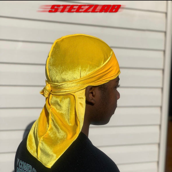 Yellow/Gold Premium Velvet Durag