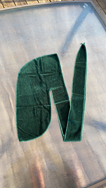 Money Green Velvet Durag