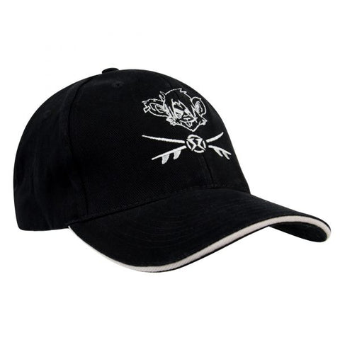 RatHead Baseball Cap – Black/Grey in Cotton twill