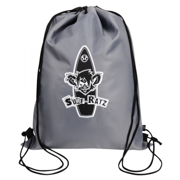 Surf Ratz Board Logo Drawstring Bag – Grey - surf-ratzz