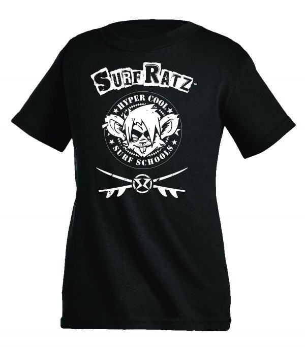 Surf Ratz Hyper Cool Kid's T-Shirt – Black - surf-ratzz