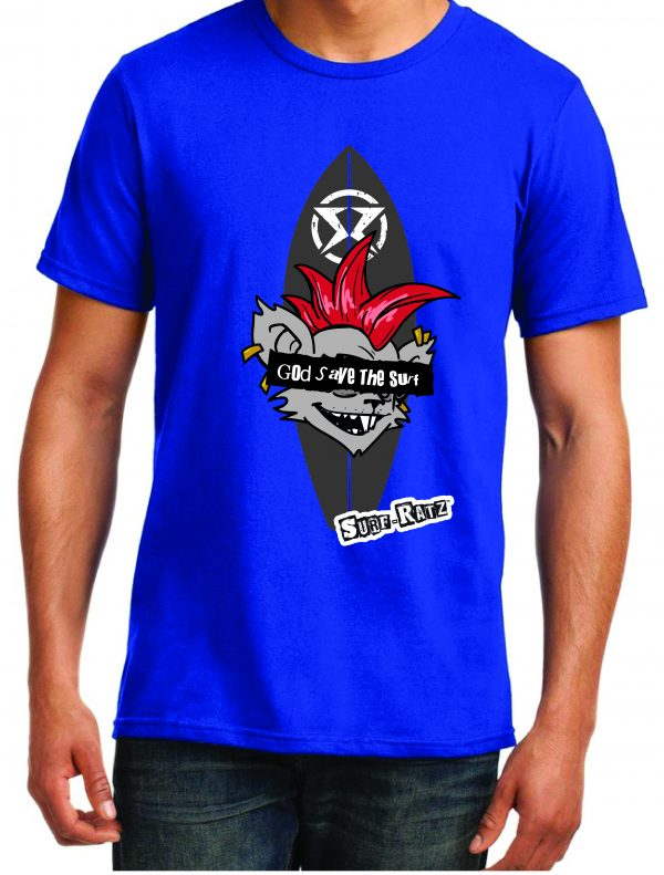 Surf Ratz God Save The Surf Kid's T-Shirt – Royal Blue - surf-ratzz