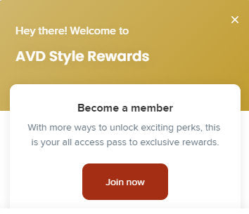 AVD Rewards Signup