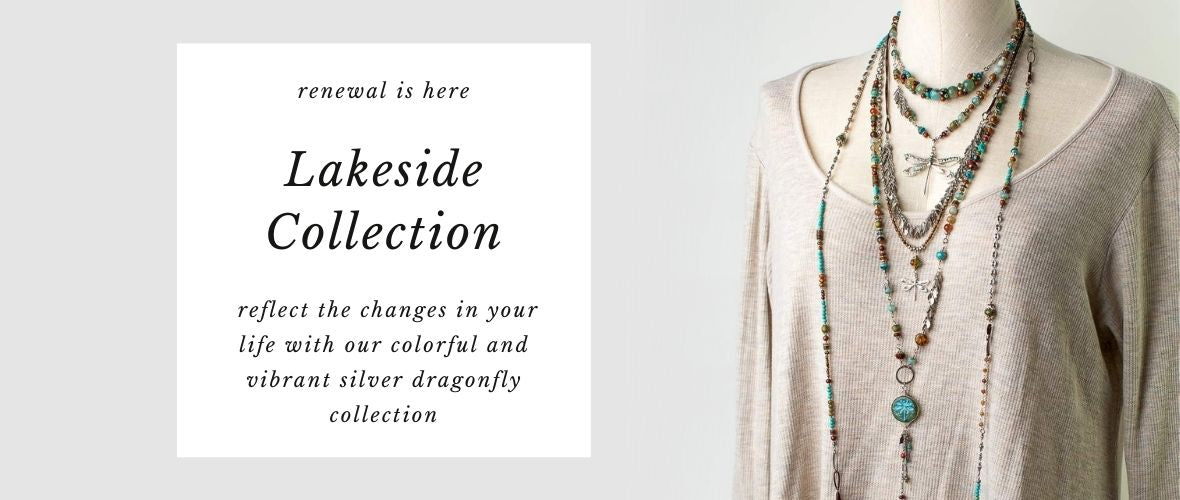 Lakeside Collection - reflect the changes in your life with our colorful and vibrant silver dragonfly collection