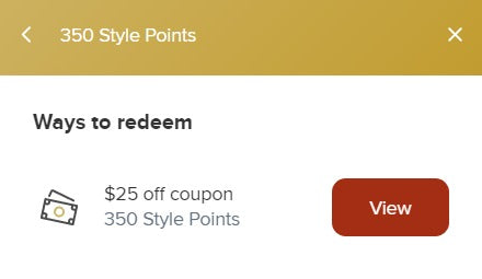 anne vaughan designs redeem rewards points into a coupon code