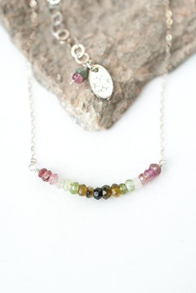 "Limited Edition 16-18"" Tourmaline Bar Necklace"