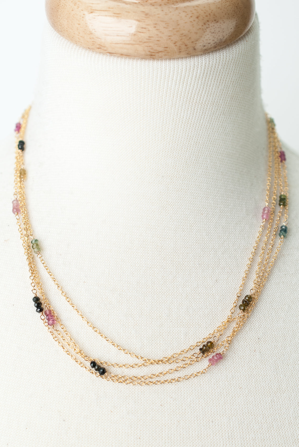 "Limited Edition 18-20"" Tourmaline Multistrand Necklace"