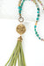 "*One of a Kind 33-36"" Natural Turquoise, Gemstones, Druzy Tassel Necklace"