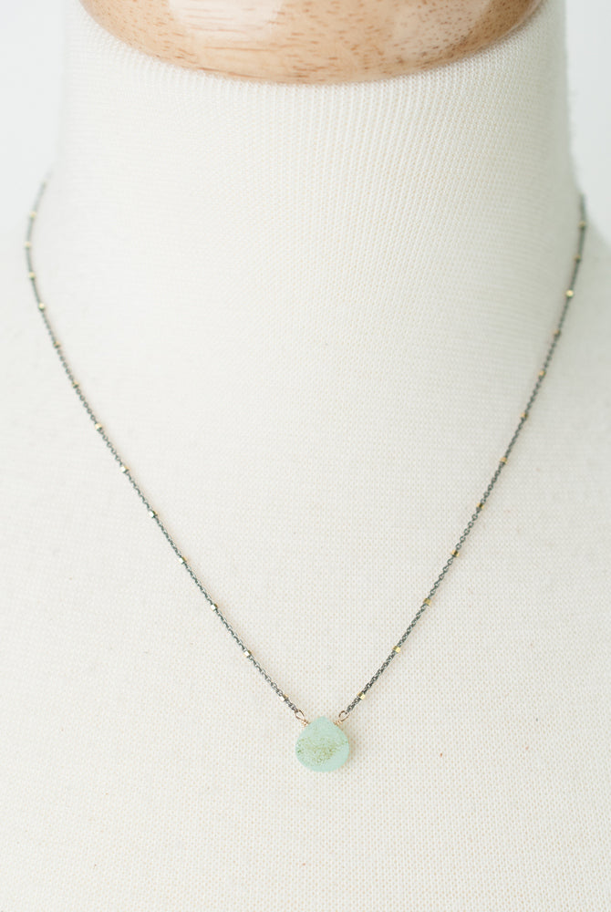 "Limited Edition 16-18"" Druzy Chalcedony Necklace"