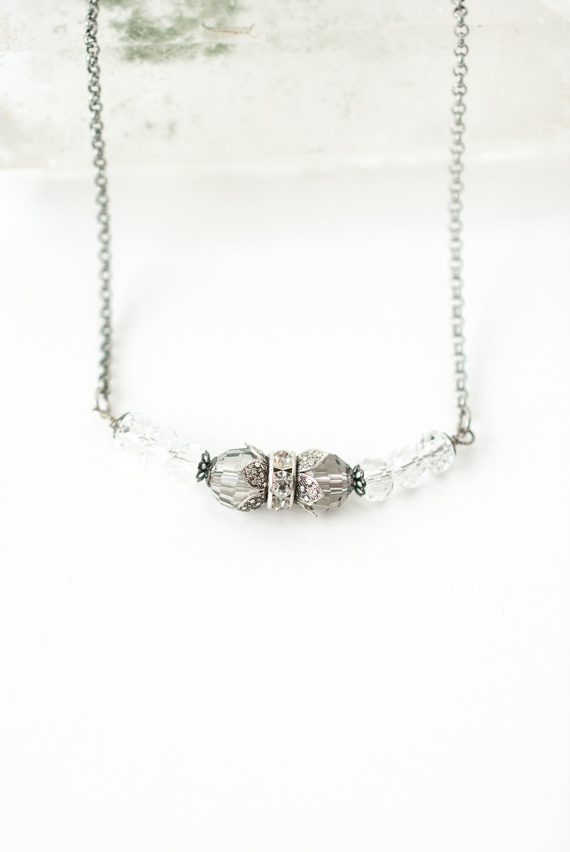 "Limited Edition 16-18"" Vintage Crystal Necklace"