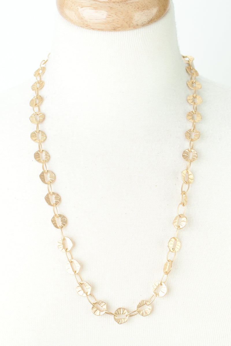 "Limited Edition 24-26"" Matte Gold Chain Necklace"