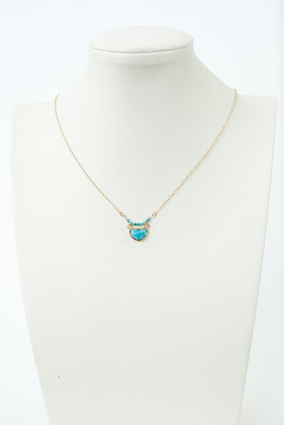 "Limited Edition 16-18"" Turquoise Bezel Necklace"