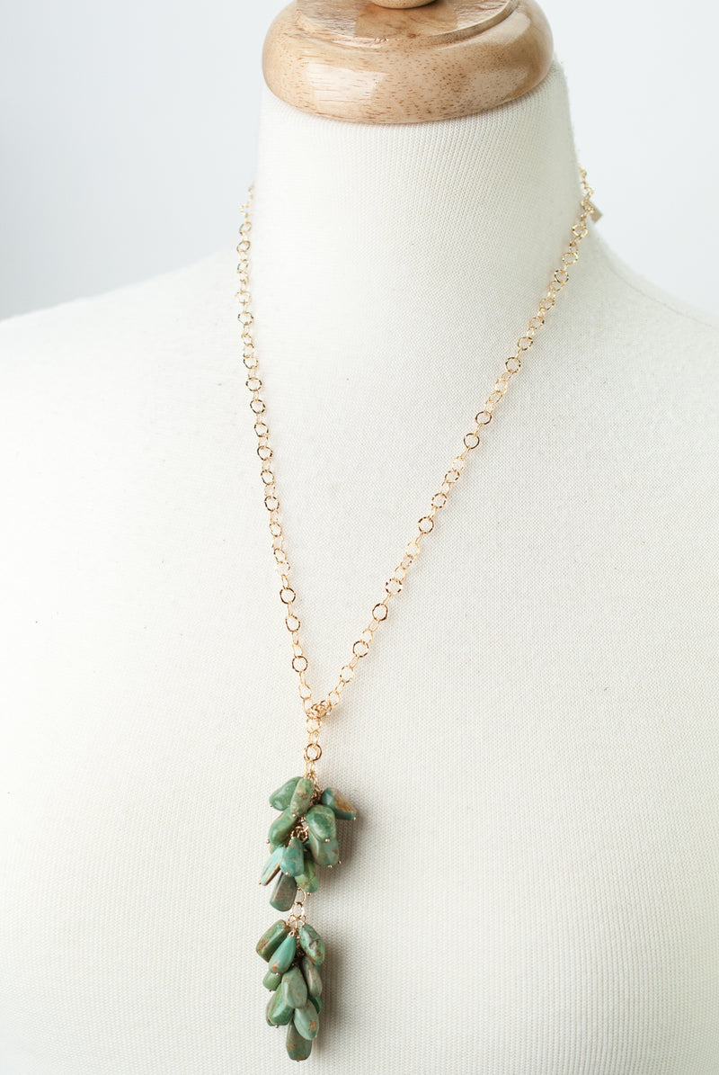 "One of a Kind 27"" Turquoise Lariat Necklace"