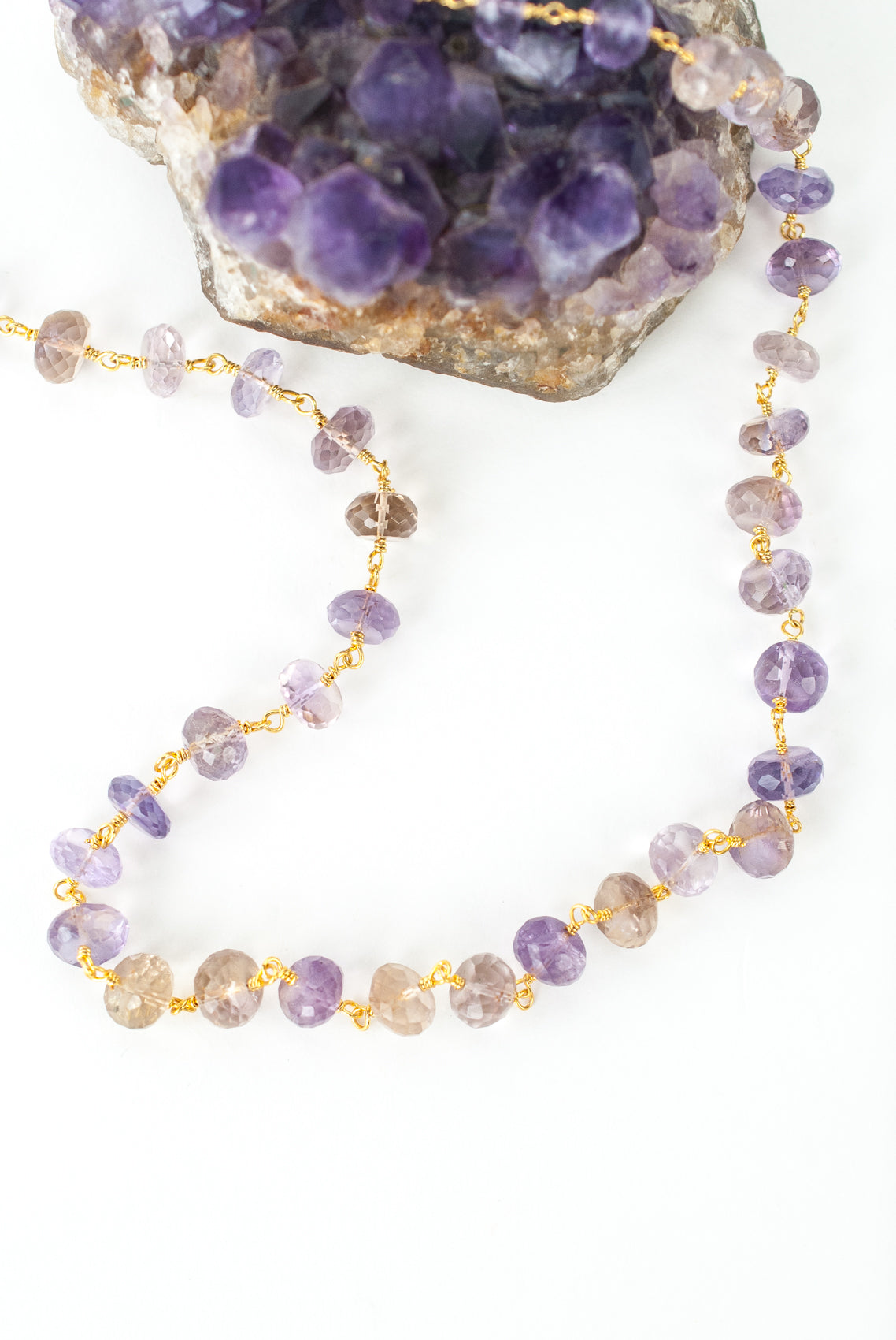 "Limited Edition 24-26"" Ametrine Chain Necklace"