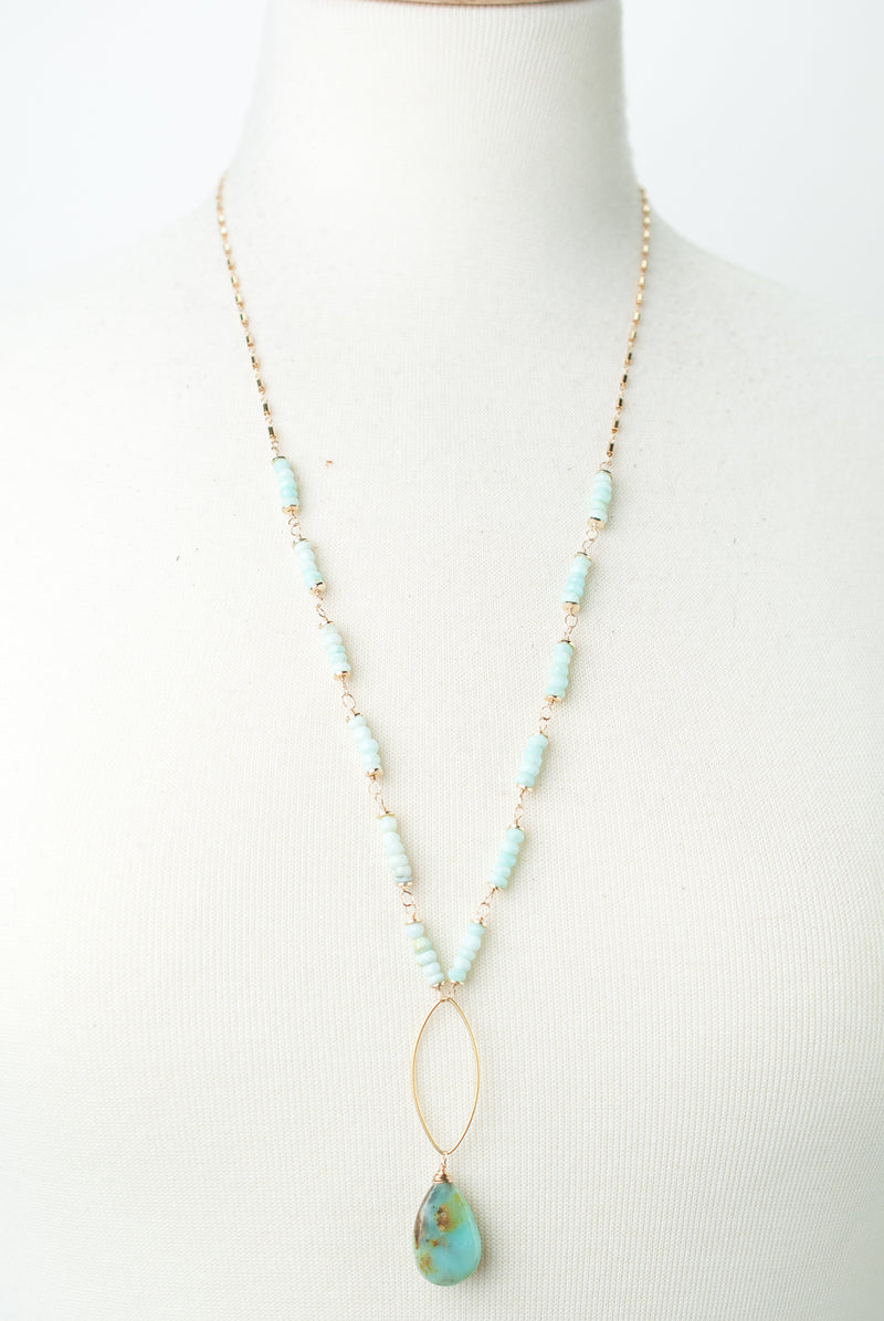 "Limited Edition 26-28"" Peruvian Opal Focal Necklace"