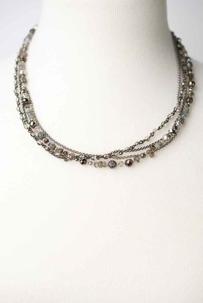 "Windsor Castle 17.5-19.5"" Gemstone Multi strand Necklace"
