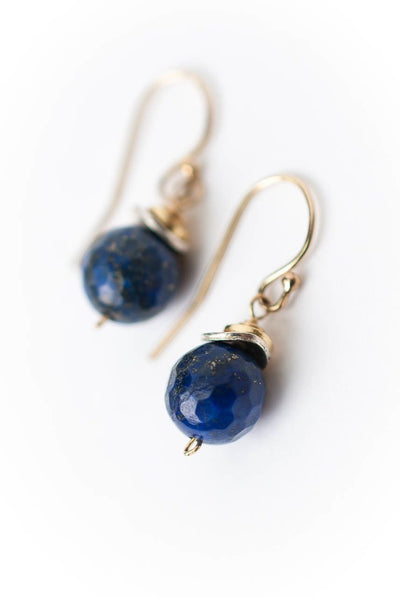 Seaside Simple Lapis Dangle Earrings