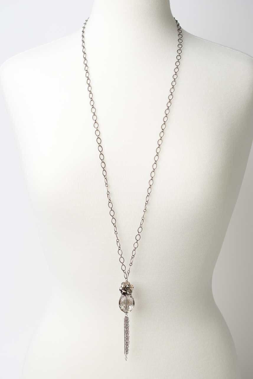 "Windsor Castle 37-39"" Crystal Dangle Necklace"