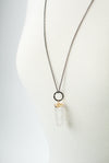 "Limited Edition 31-33"" Simple Quartz Focal Necklace"