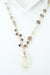 "One of a Kind 35-37"" Lemon Quartz, Smokey Quartz Collage Necklace"
