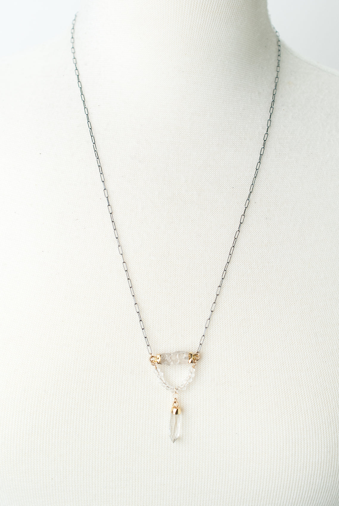 "Limited Edition 23-25"" Quartz Focal Necklace"