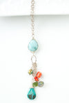 "Limited Edition 20-22"" Turquoise, Coral, Larimer Tassel Necklace"