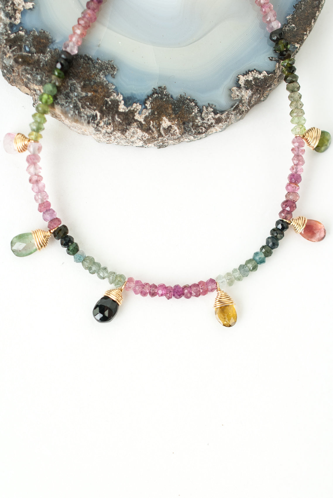 "Limited Edition 16-18"" Tourmaline Collage Necklace"