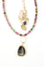 "One of a Kind 16-18"" Tourmaline, Muscovite Focal Necklace"
