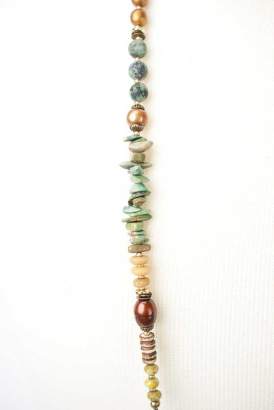 "Anahata 42-44"" Gemstone Collage Necklace"