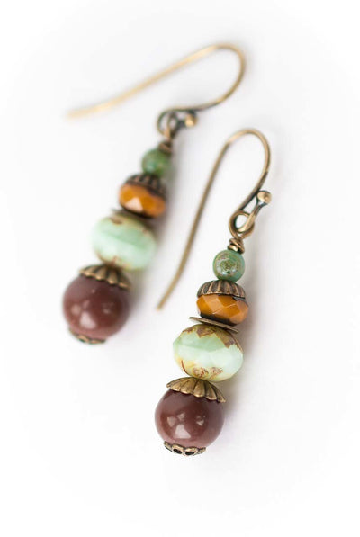 Anahata Simple Beaded Drop Earrings