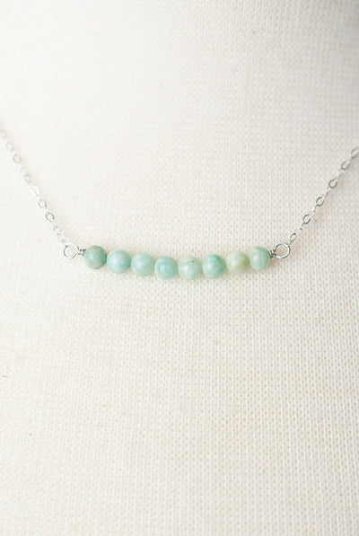 "Oak Creek 16-18"" Peruvian Opal Bar Necklace"