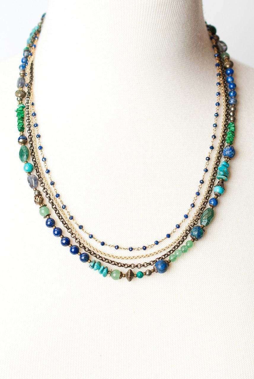 "Azure 20-22.5"" Multistrand Convertible Necklace"