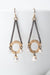 *Cosmos Pearl Chandelier Earrings