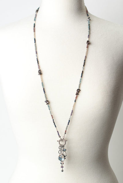 "*Shimmer 19"" or 35.5"" Convertible Tassel Necklace"