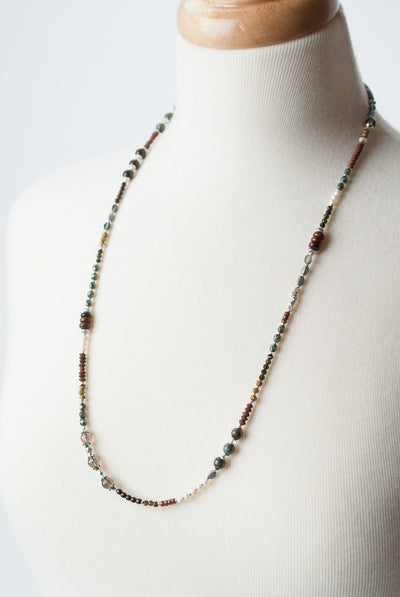 "Willow Creek 28.5-30.5"" Simple Gemstone Collage Necklace"