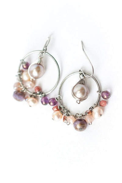 Breathless Hoop Cluster Earrings
