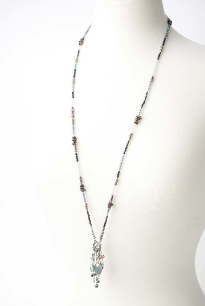 "Shimmer 35.5"" or 17.5"" Convertable Tassel Necklace"