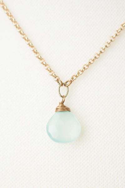 "Crisp Autumn 15.5-17.5"" Chalcedony Focal Necklace"