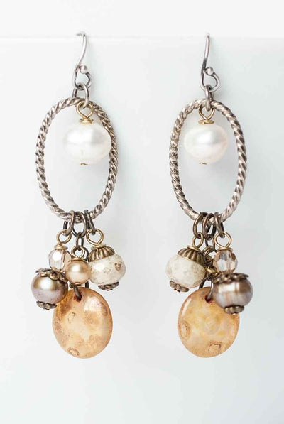 Tundra Simple Dangle Cluster Earrings