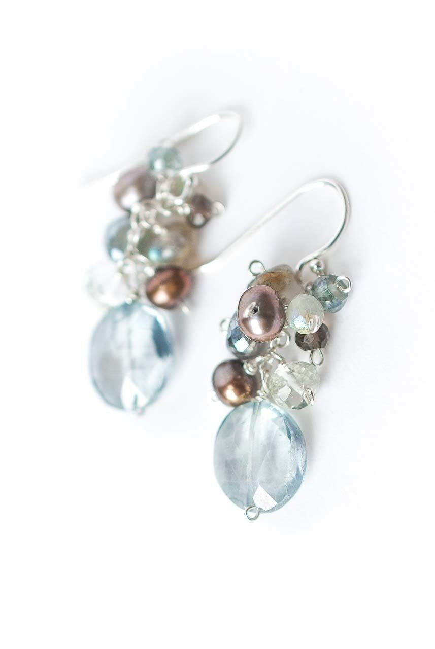 Resilience Topaz Drop Focal Cluster Earrings