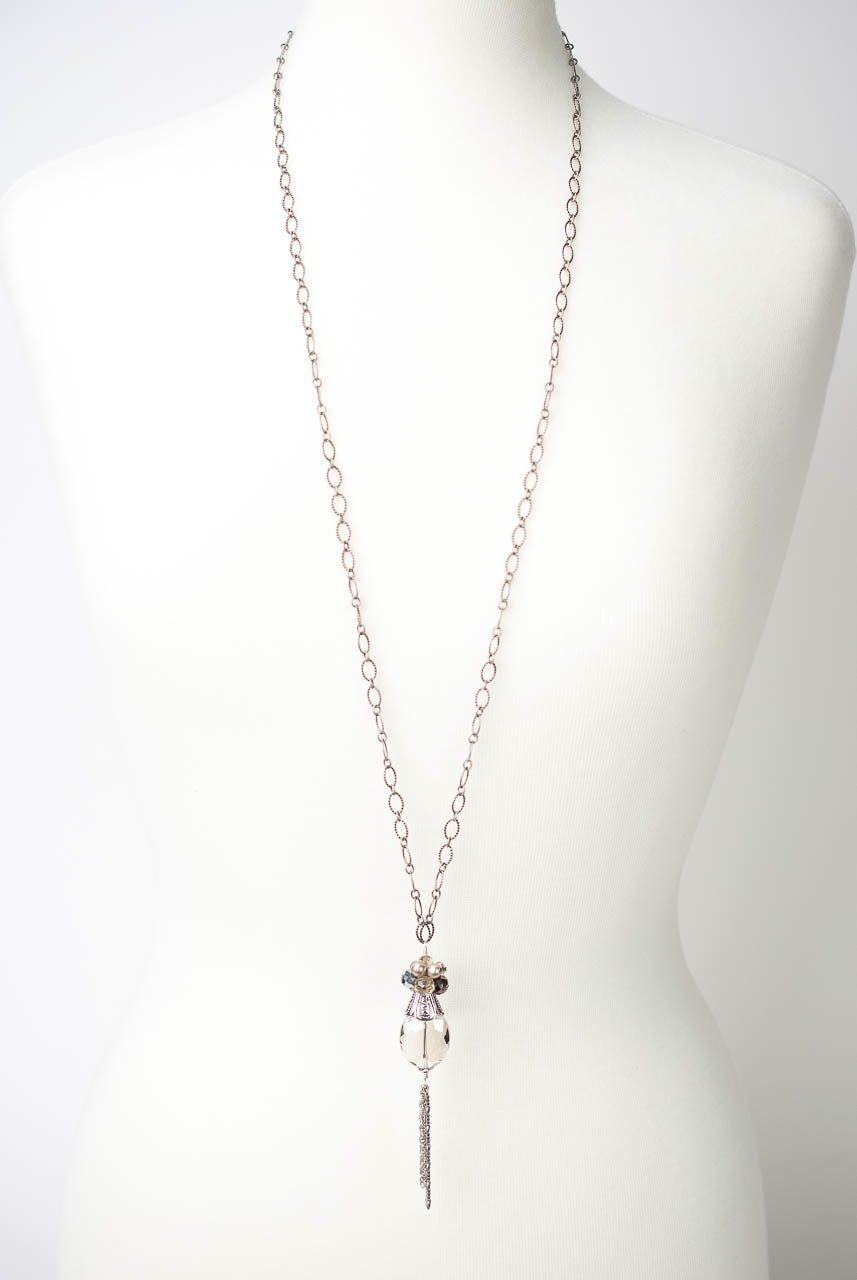 "Windsor Castle 37-39"" Crystal Cluster Necklace"