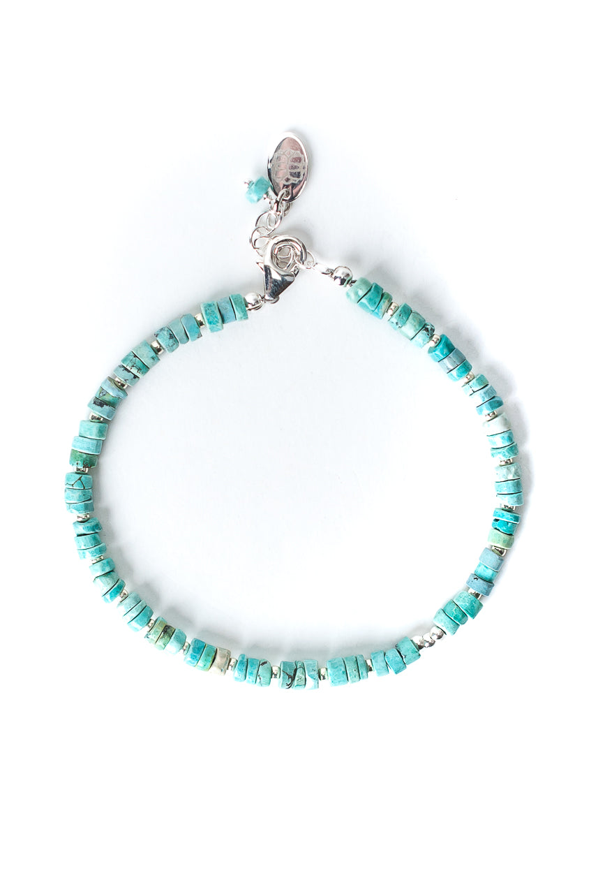 "Bloom 7.5-8.5"" Turquoise Sterling Silver Bracelet"
