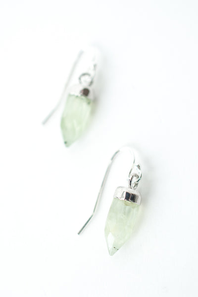 Bloom Prehnite Simple Dangle Earrings