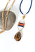 "Bountiful 31-33"" Coral, Czech Glass, Petrified Wood Necklace"