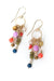 Bountiful Czech Glass, Crystal, Cat's Eye Tassel Earrings