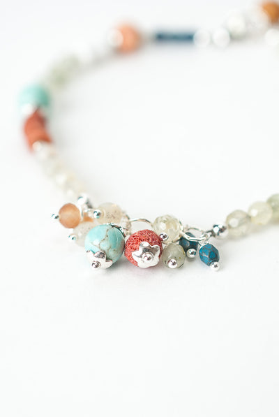 "Baja 7.5-8.5"" Simple Collage Bracelet"