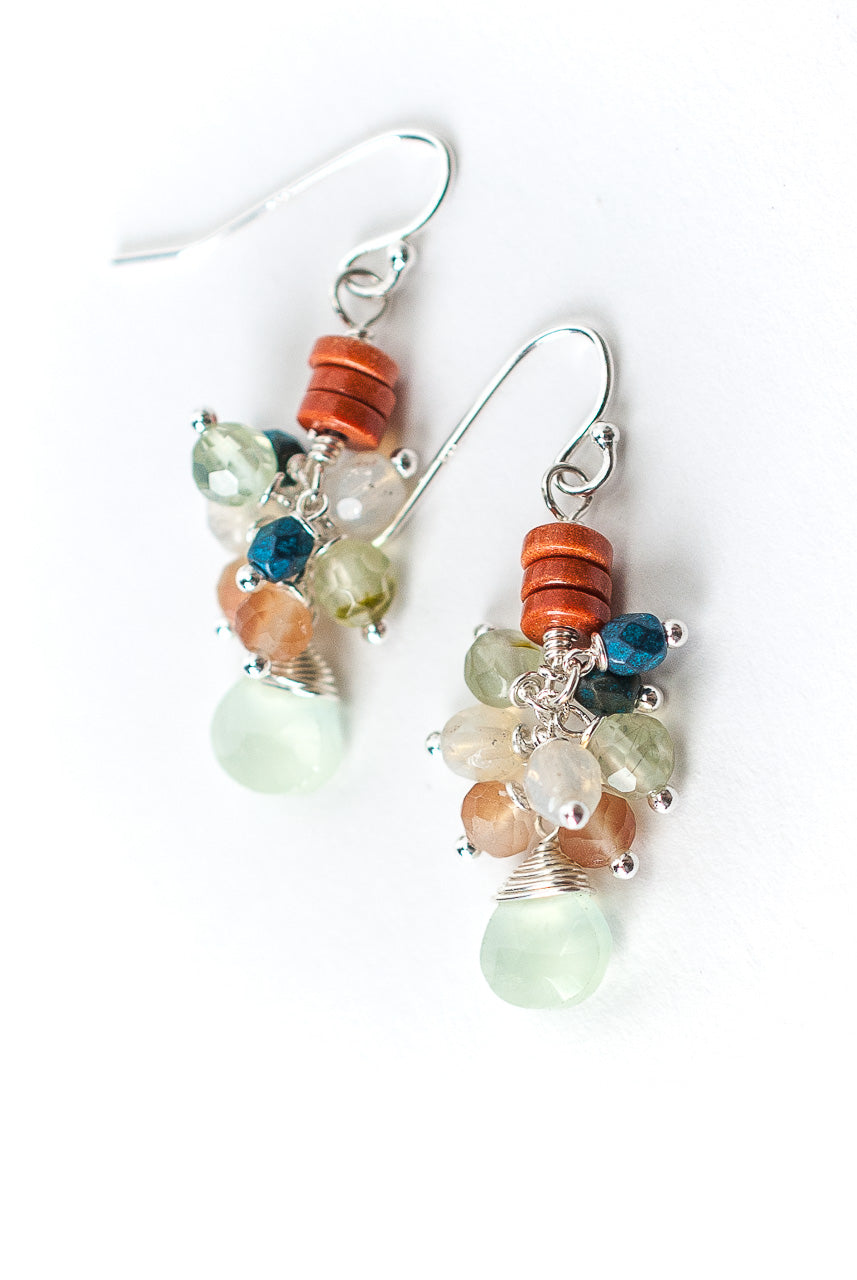 *Baja Gemstone Cluster Earrings