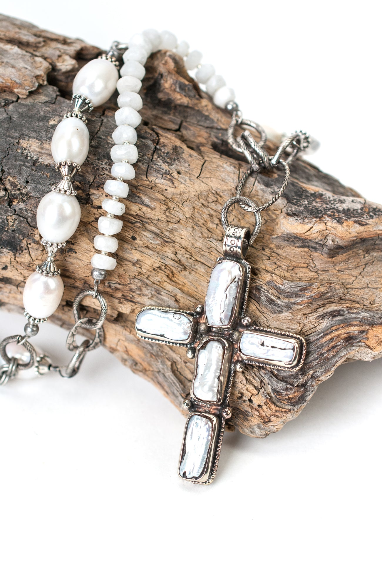 "Limited Edition 32-34"" Pearl Cross Focal Necklace"