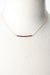 "Birthstone 16-18"" January Gold Garnet Bar Necklace"