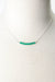 "Birthstone 16-18"" May Silver Green Onyx Bar Necklace"